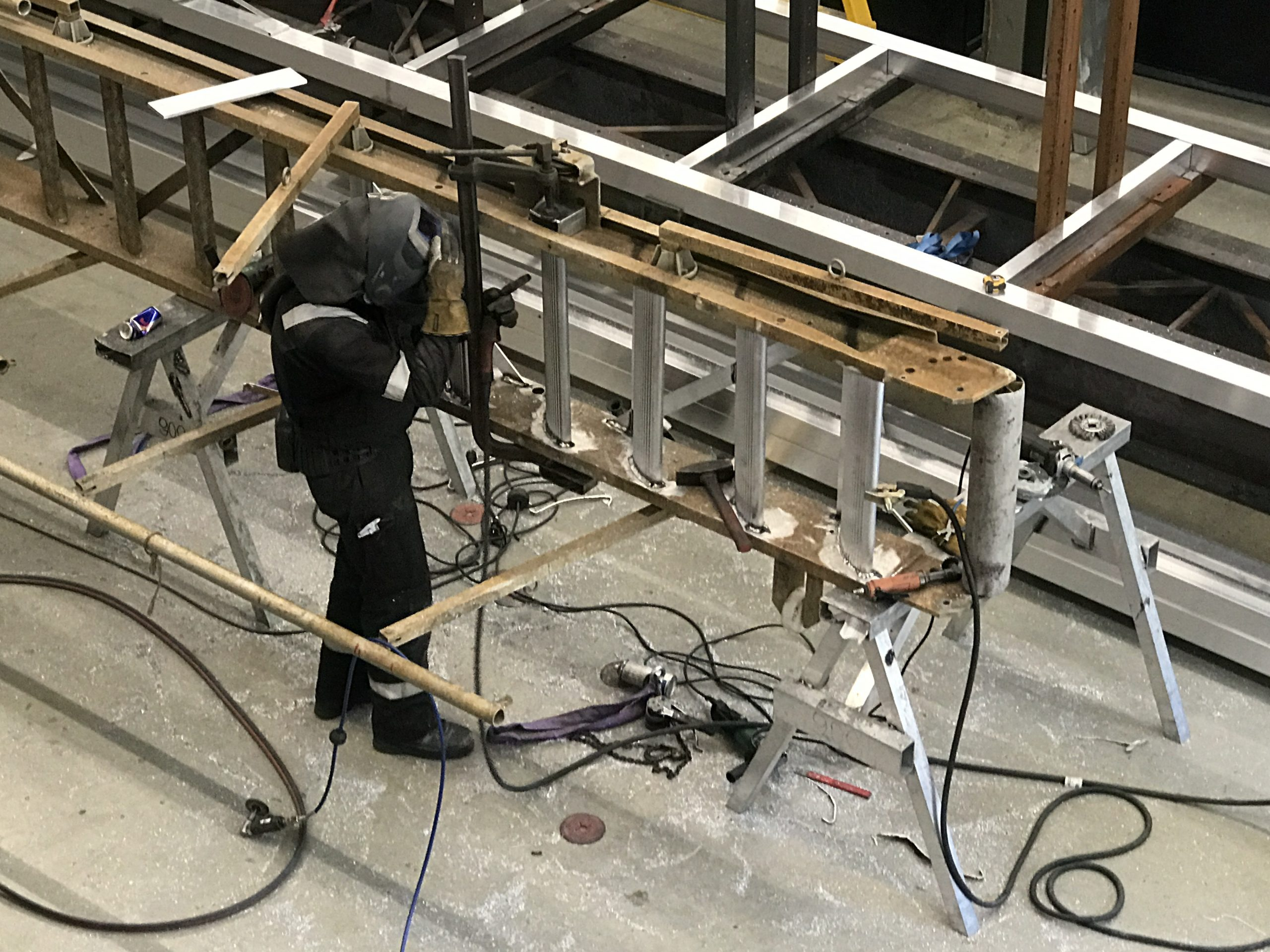 Repair of an accommodation ladder